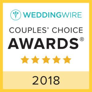 Wedding Wire Couples Choice Awards Winner 2018